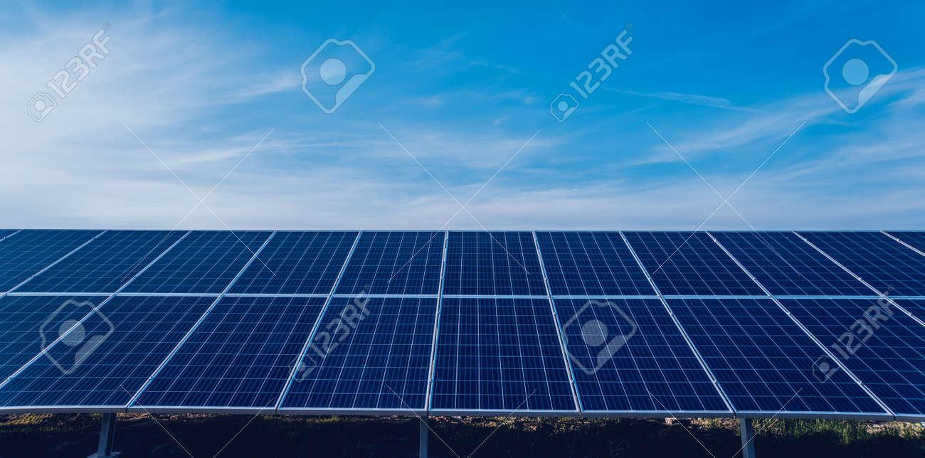 Solar panels, photovoltaic alternative electricity source. Background. - 150382745