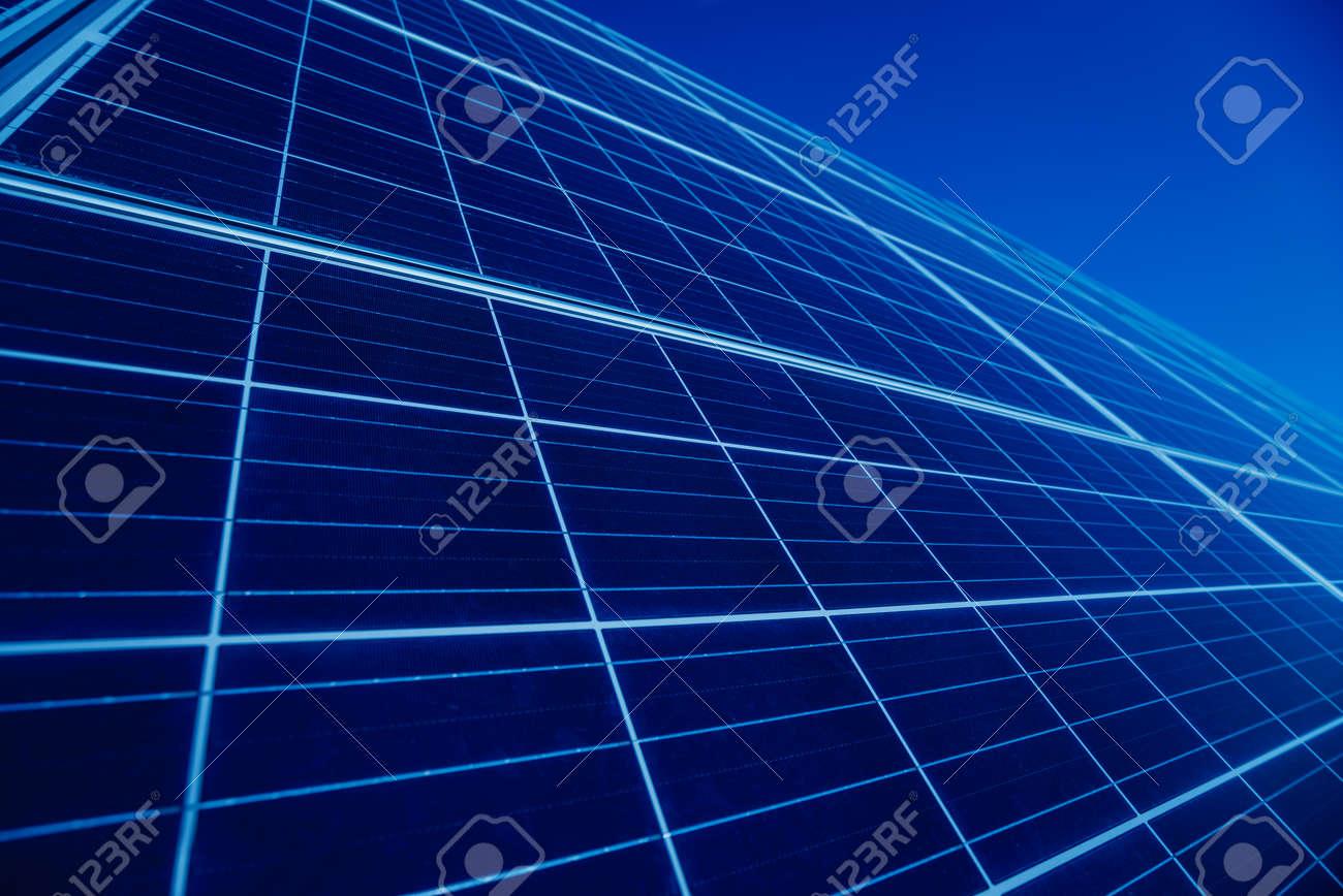 Solar panels, photovoltaic alternative electricity source. Background - 150838299