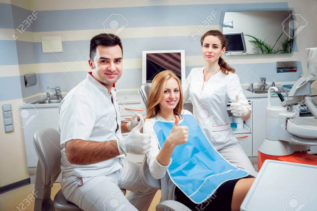 Young woman at the dental office. Medical equipment. - 152329489
