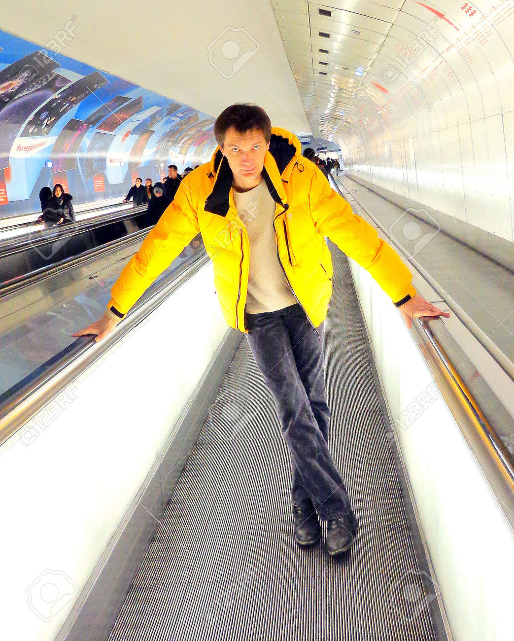 A subject in the Underground Stock Photo - 17146594