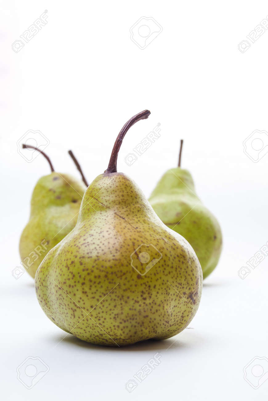 Four Pears isolated on a white background Stock Photo - 21589966