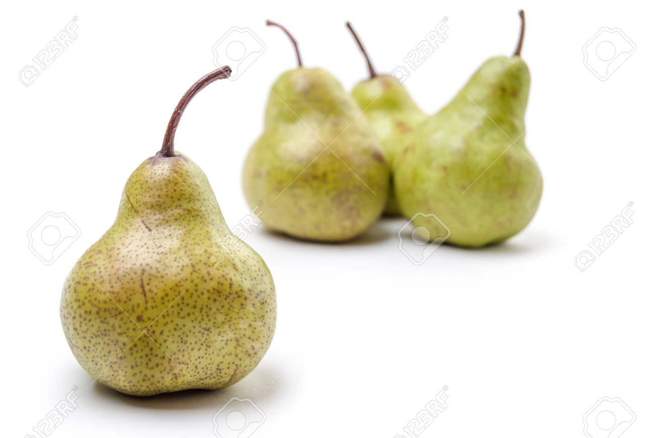 Four Pears isolated on a white background Stock Photo - 22836148