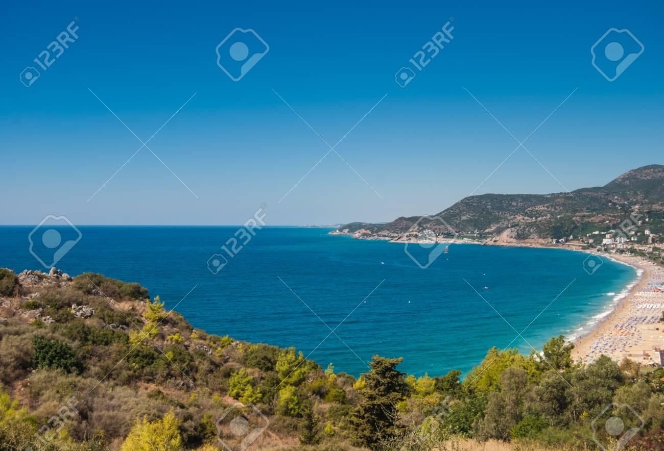 Famous Hafen Von Alanya Und Kleopatra Strand, Antalya, Türkei Lizenzfreie  DE86