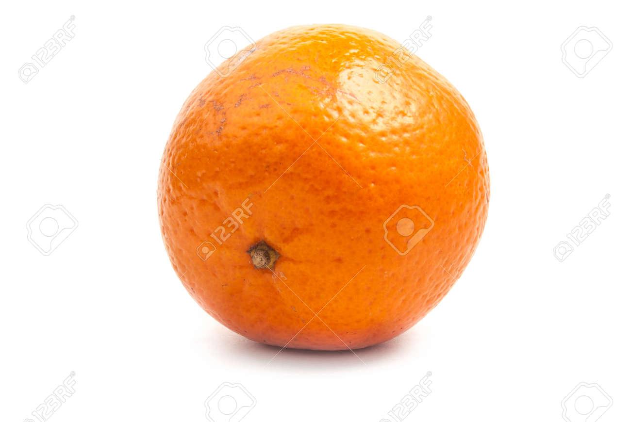 single orange mandarine Stock Photo - 28408213