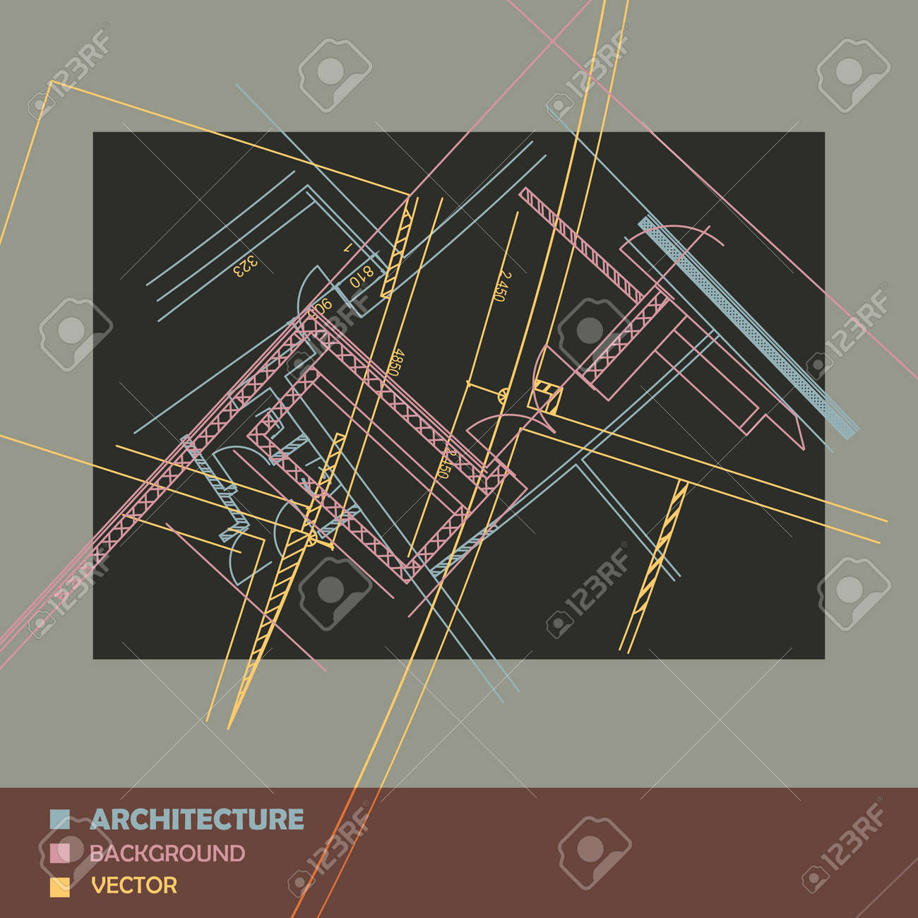 Drawing of abstract architectural detail on flat surface image drawing of abstract architectural detail on flat surface image of colorful blueprint for use as malvernweather Image collections