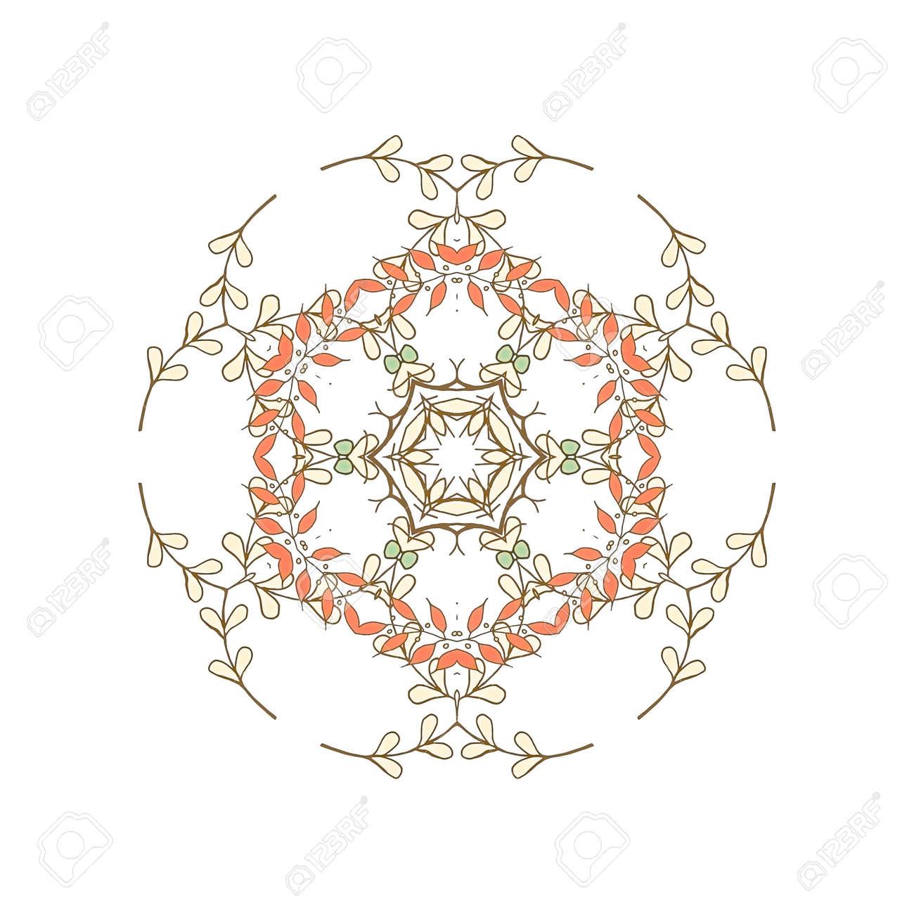 Patrón De Mosaico Simétrica Precioso. Azulejos Adornos Florales De ...
