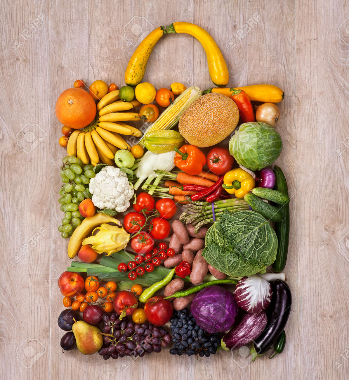 Healthy Food Shopping Food Photography Of Designer Handbag Stock Photo Picture And Royalty Free Image Image 30548430