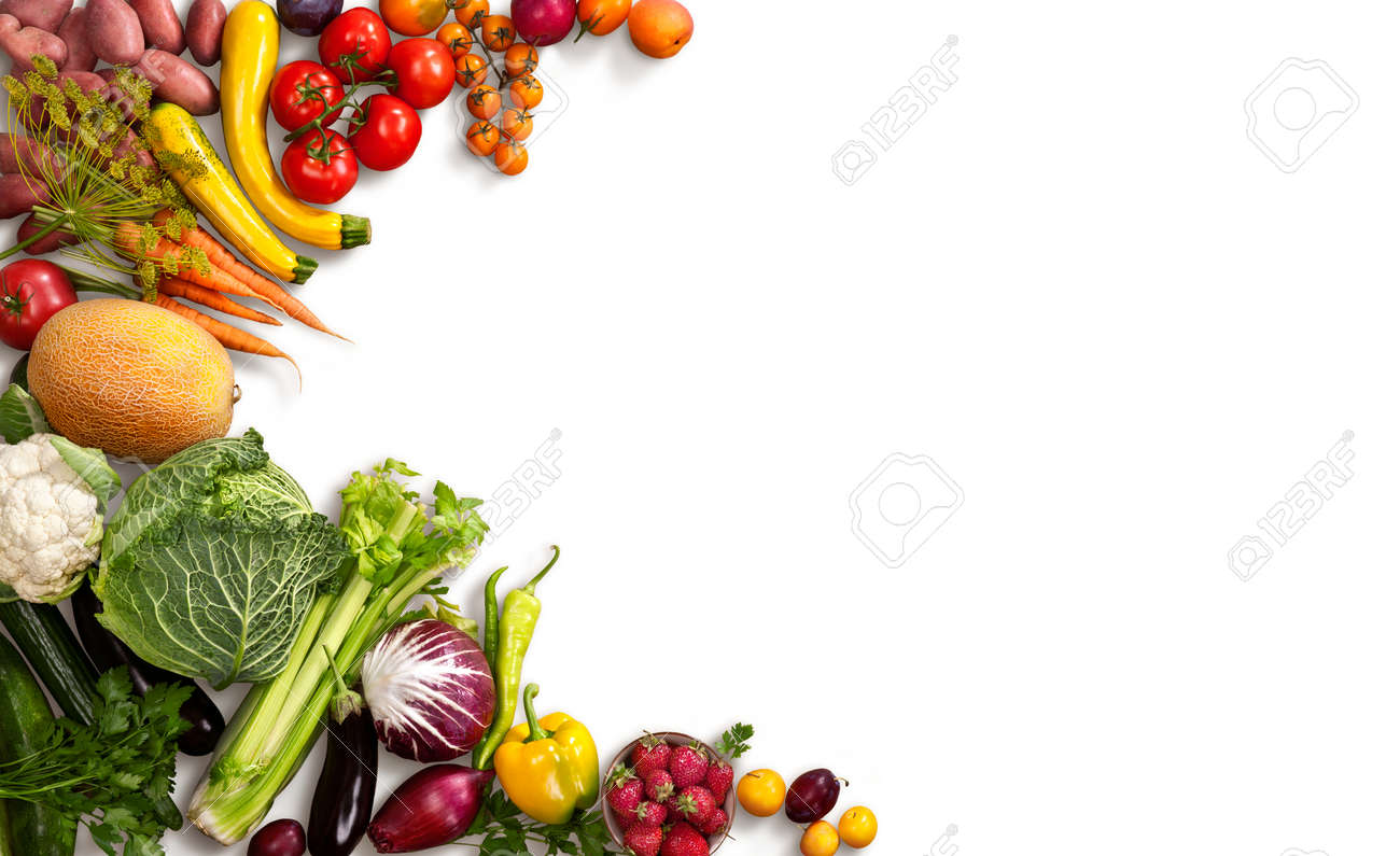 Food Background Healthy Food Background  Studio Photo Of Different Fruits And