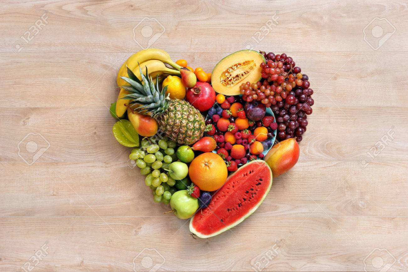Heart Symbol Fruits Diet Concept Healthy Eating Concept Food Stock Photo Picture And Royalty Free Image Image 52915766