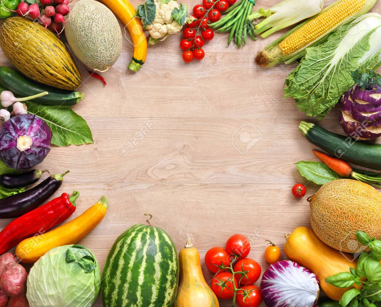 Healthy Food On Wooden Table Top View With Copy Space High Res Stock Photo Picture And Royalty Free Image Image 52849015