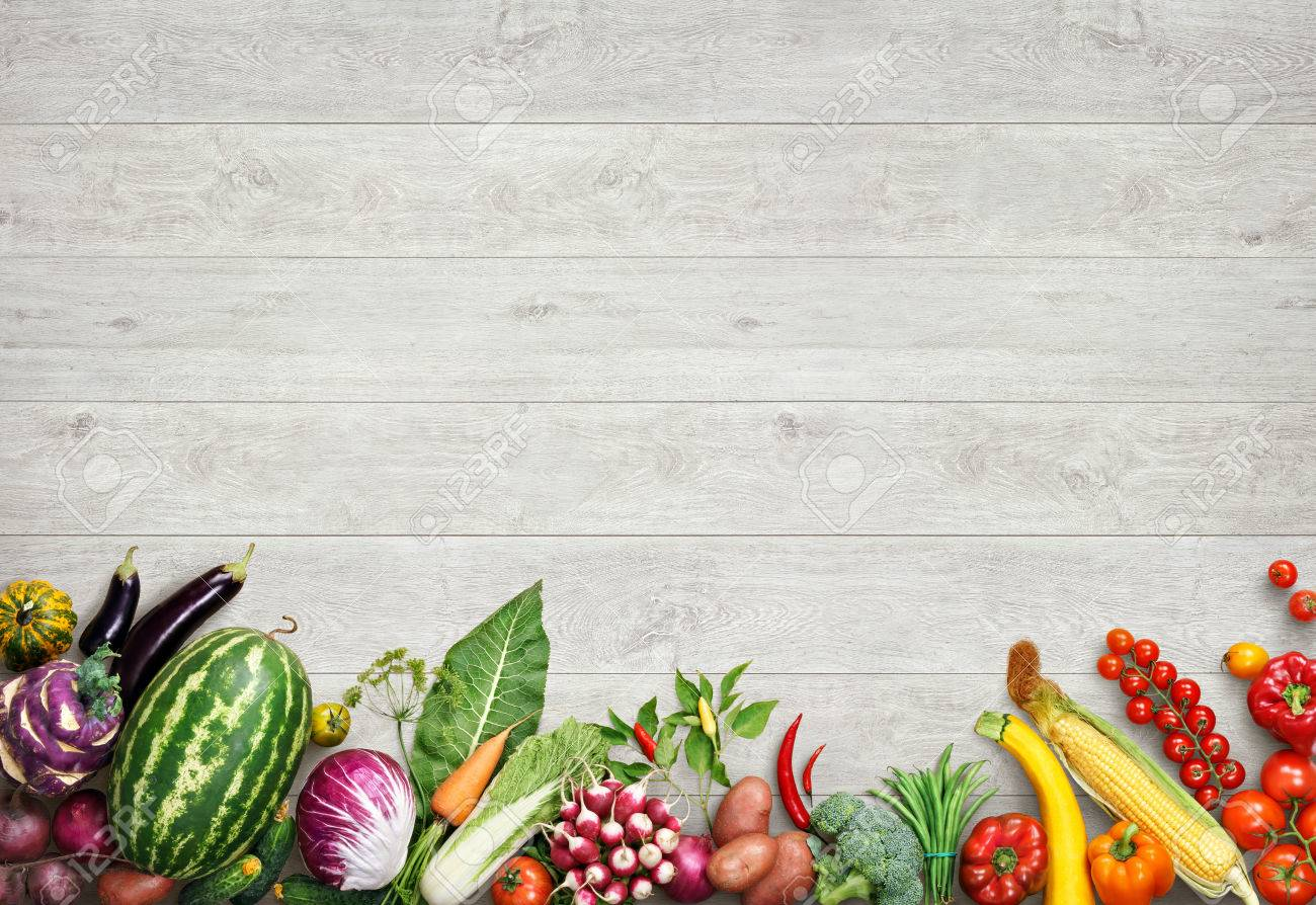 organic food background studio photo of different fruits and