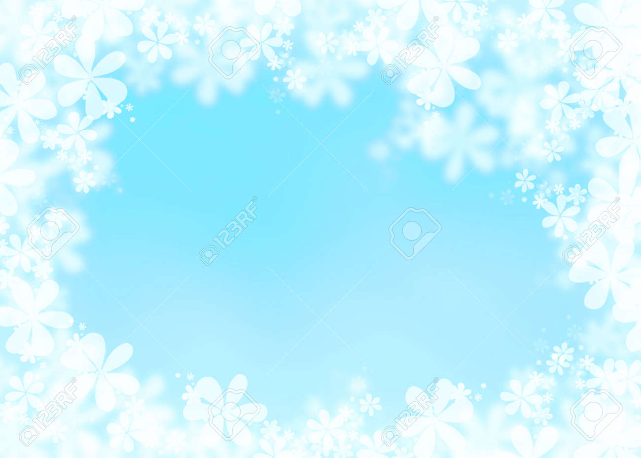 Awesome Blue Spring Easter Background, Baby Shower Background Stock Photo   54634718