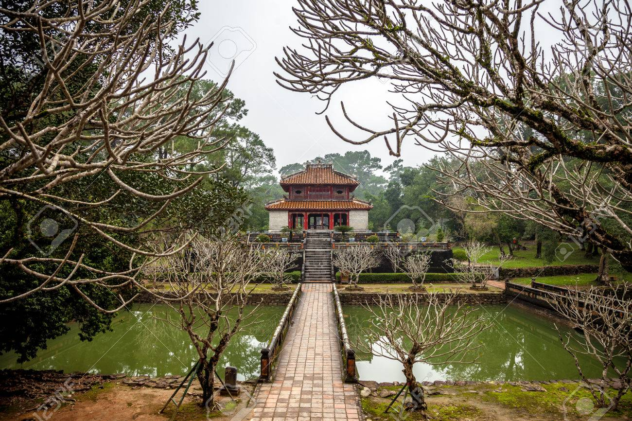 Minh Lau Pavilion At Ming Mang Emperor Tomb In Hue, Vietnam Stock ...