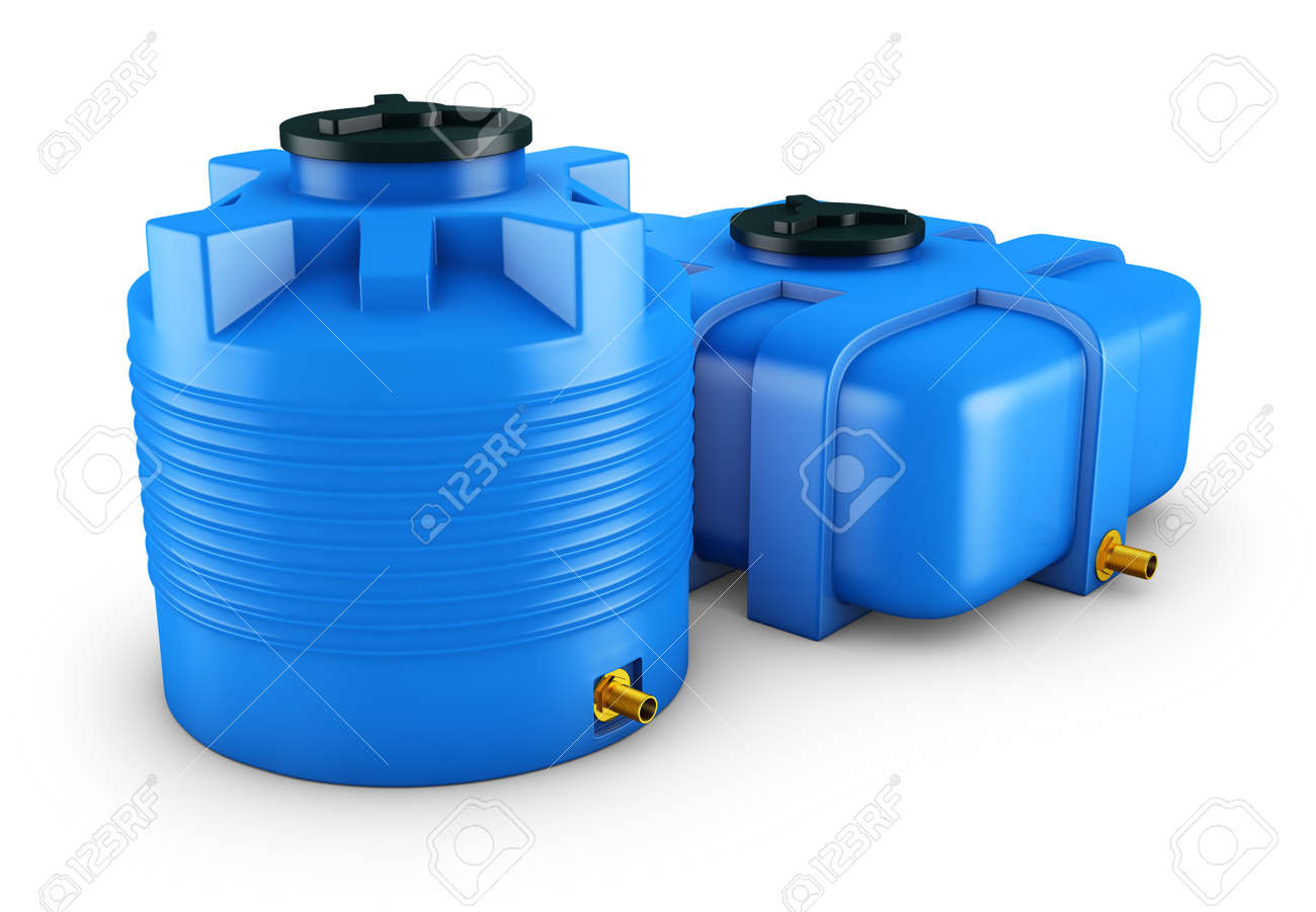 Containers For Water Of Different Shapes 3d Rendering Stock Photo