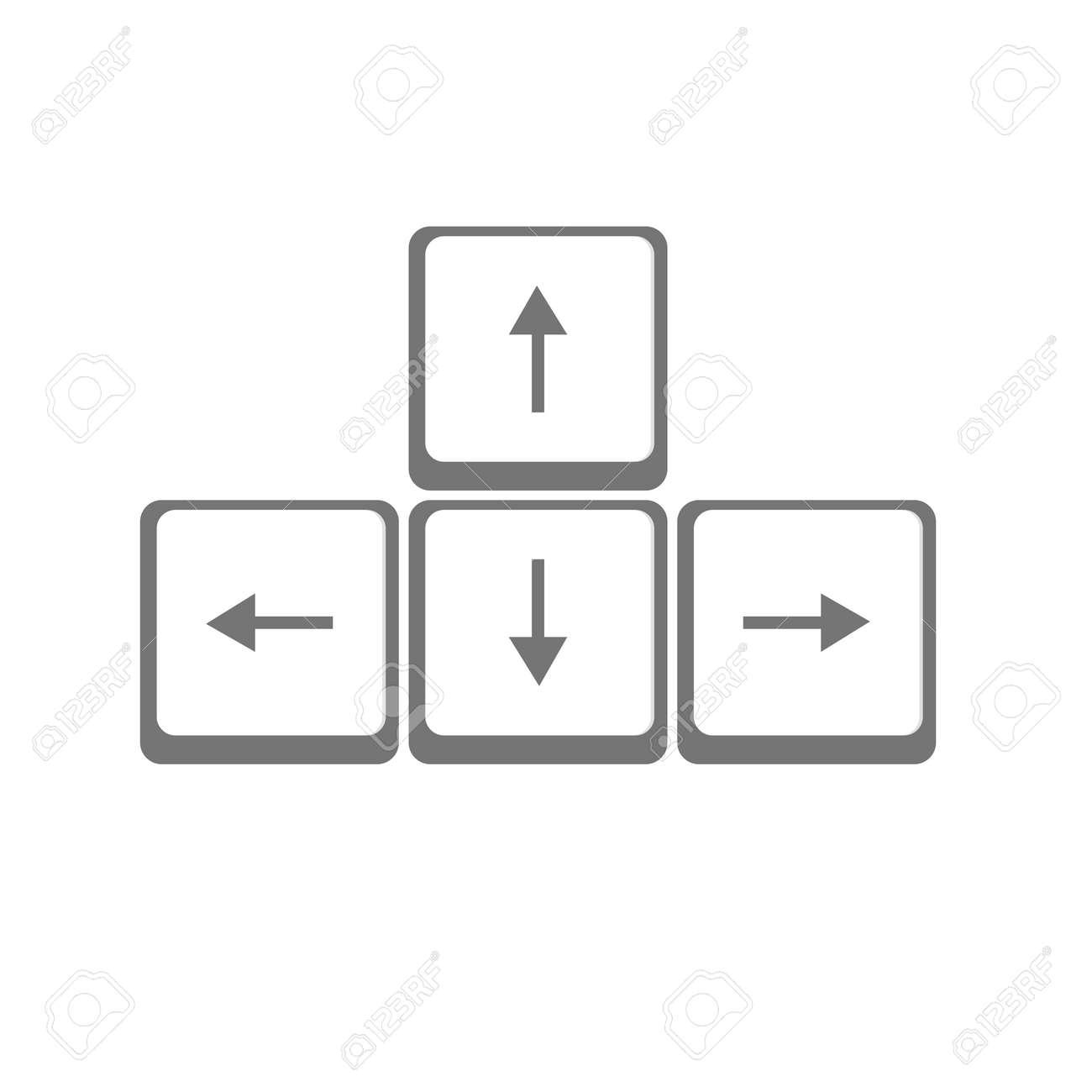 Vecteur Flèches Touches Clavier Clip Art Libres De Droits