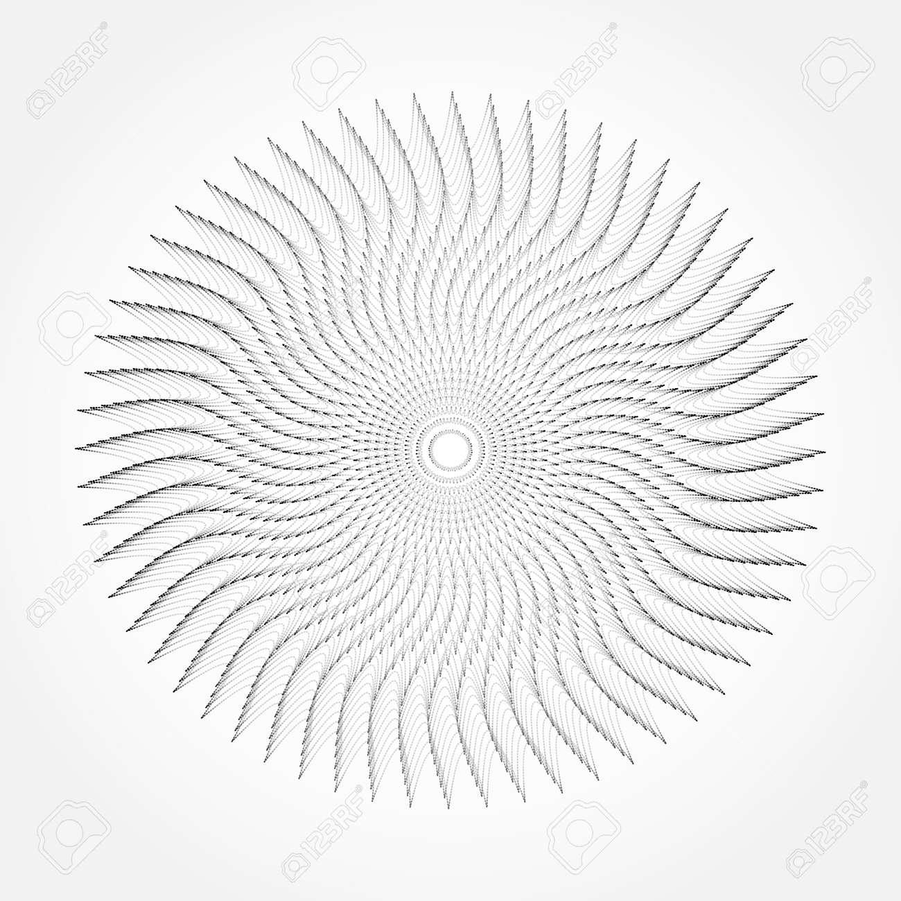 抽象的な渦線テクスチャ背景ベク...
