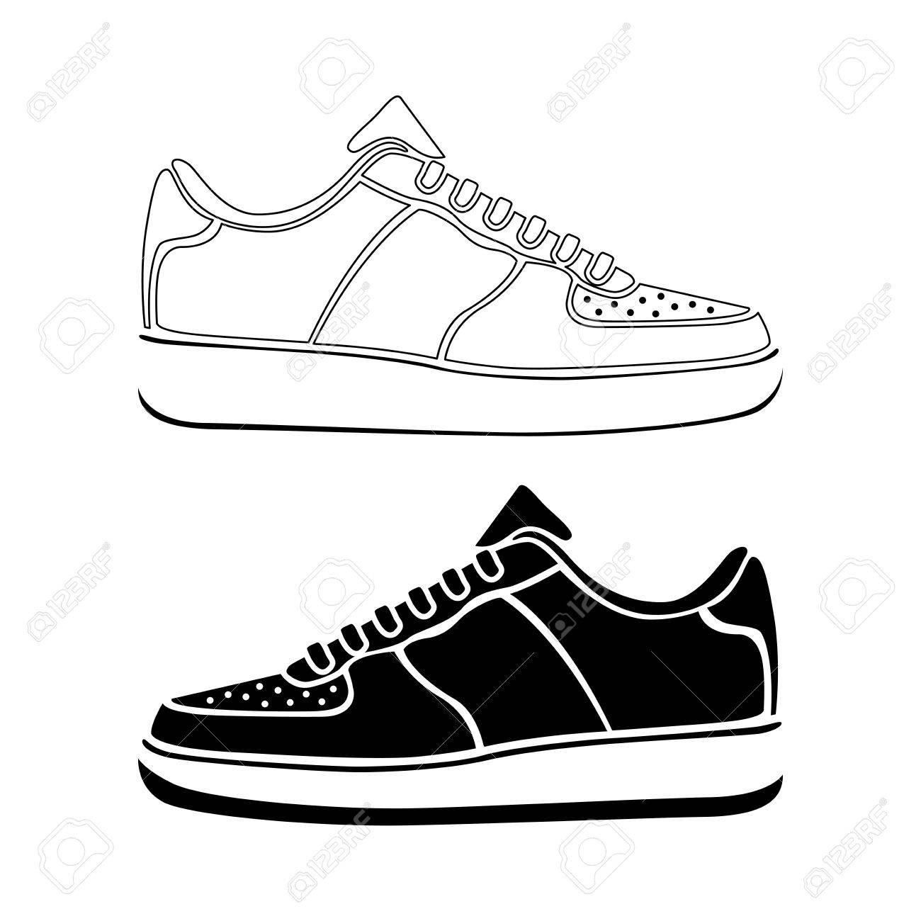 Courir L'icône Symbole Sport Chaussures Vecteur Actif De Icône Sneakers GVUMpqSz