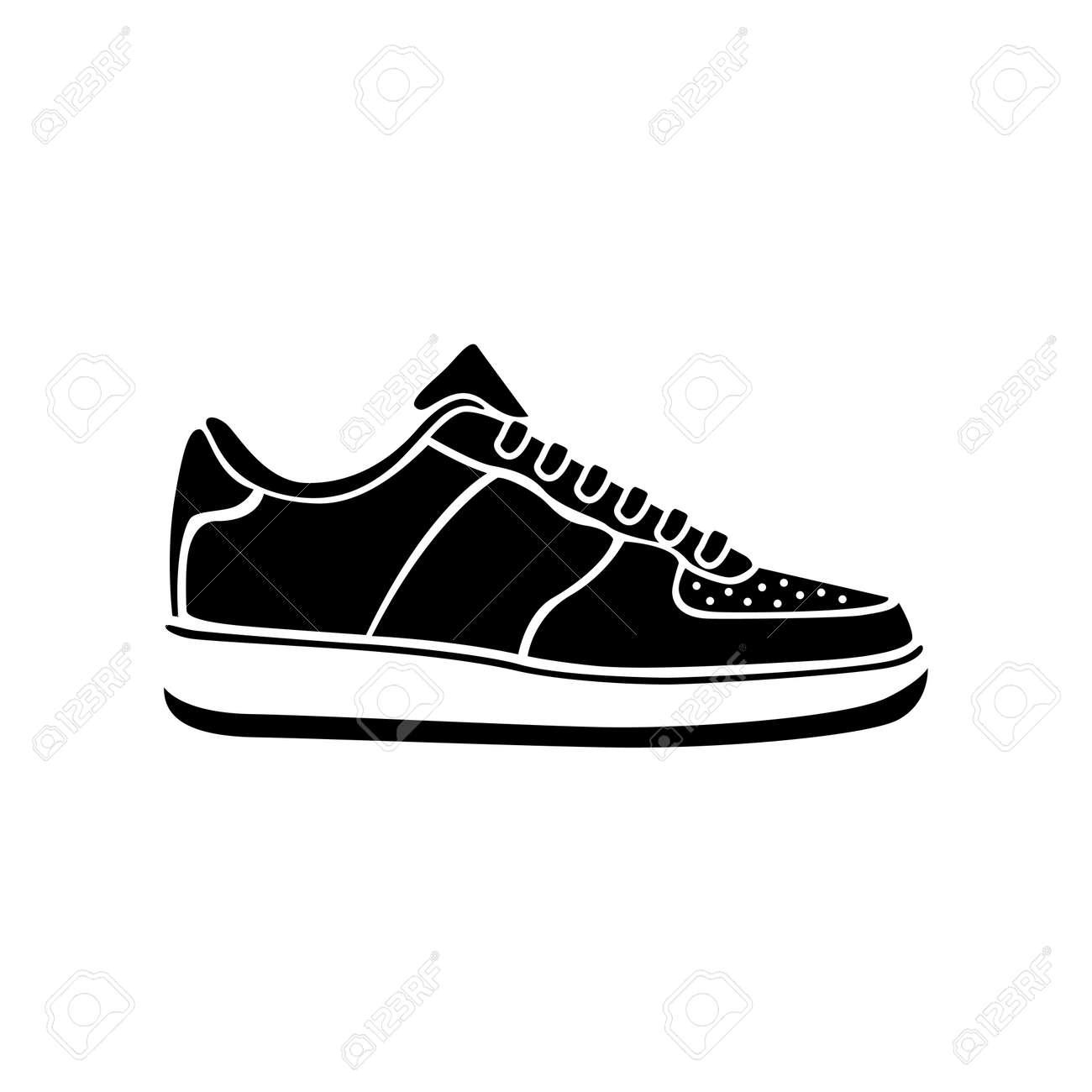 Courir Vecteur Sneakers Symbole De Chaussure Icône Sport BR1wWR0rq
