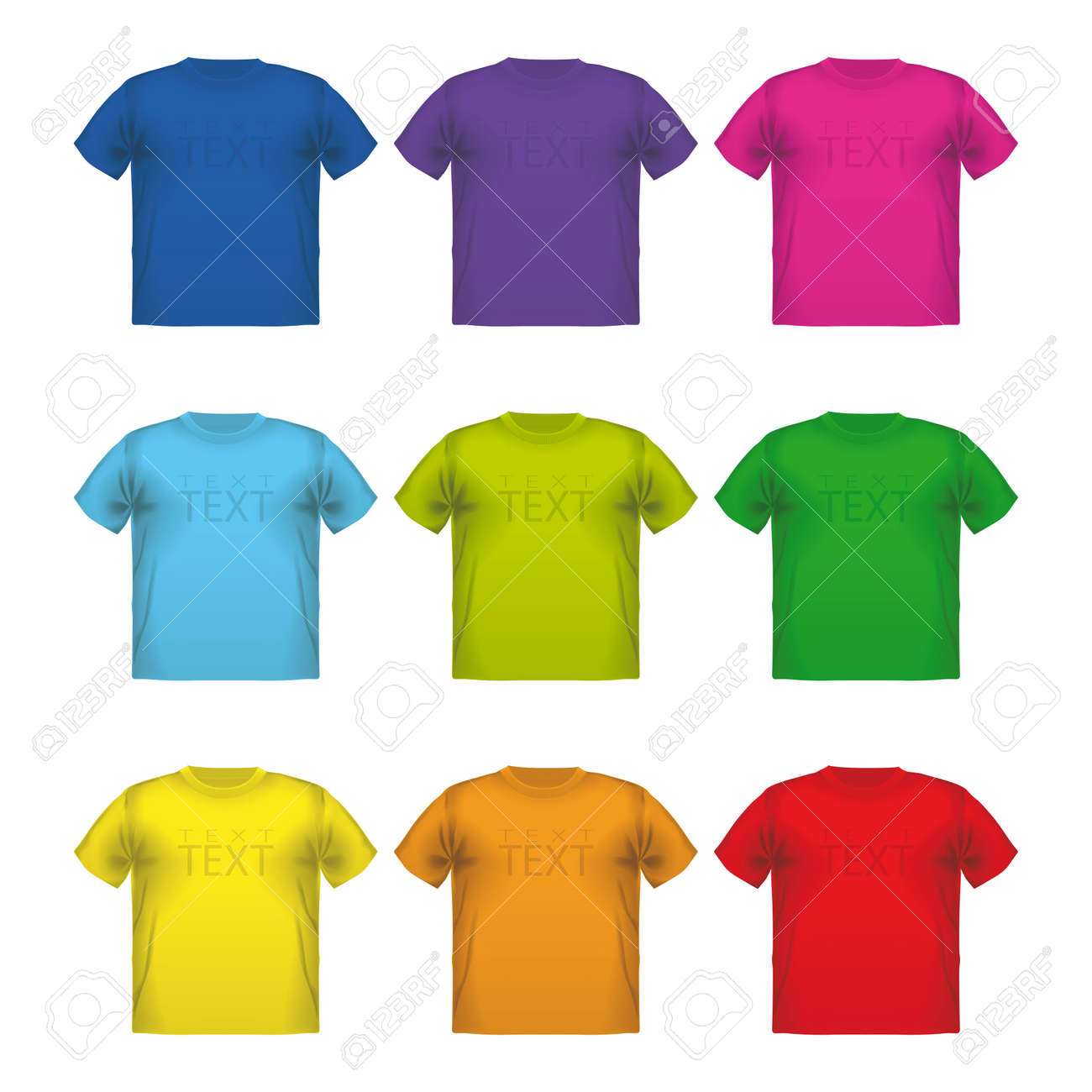 T Slijtage Van Vector Set Mannelijke Afdrukken Kleurrijke Shirts DHW9Y2IE