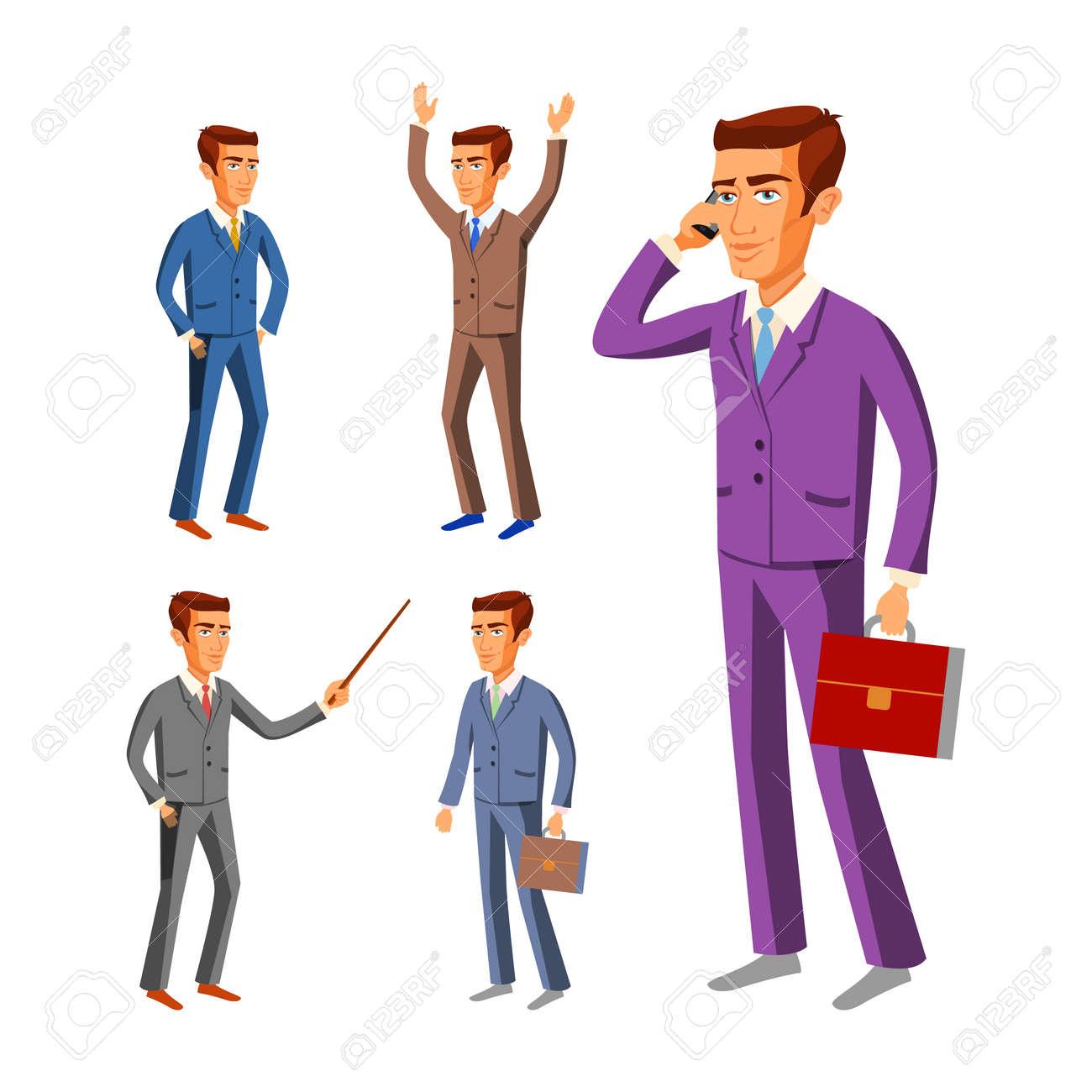 スーツ姿のビジネスマン実業家男性スーツ イラストをベクトルしますの