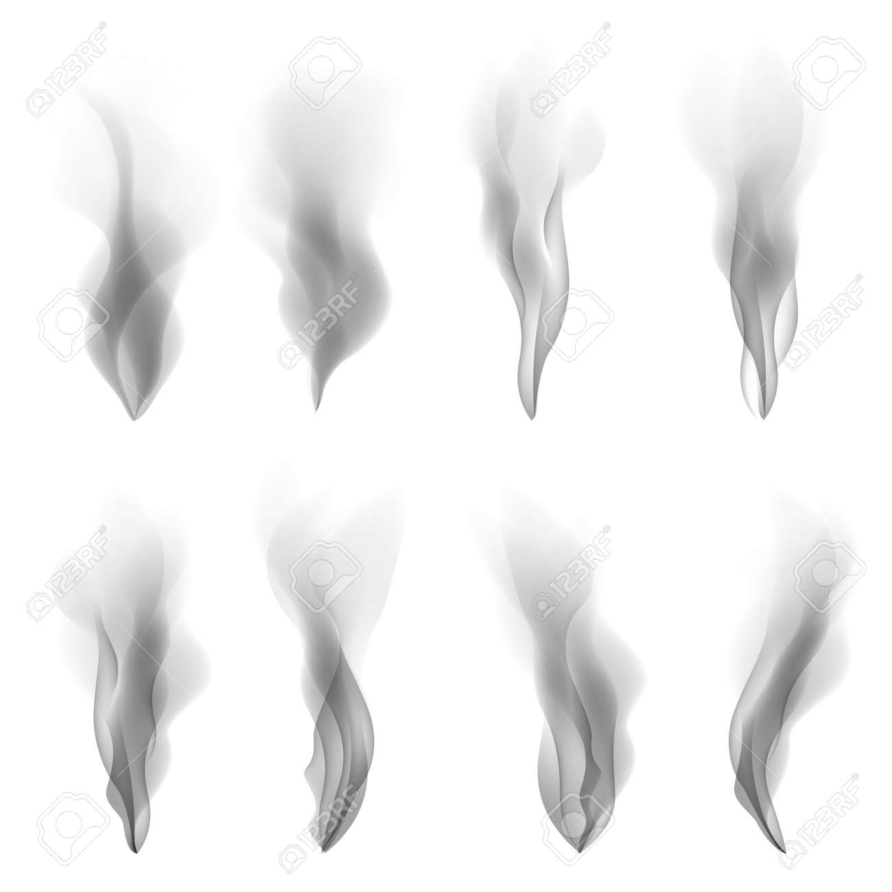 Vector Set Smoke Background Fire Smooth Wallpaper Concept Shape ...