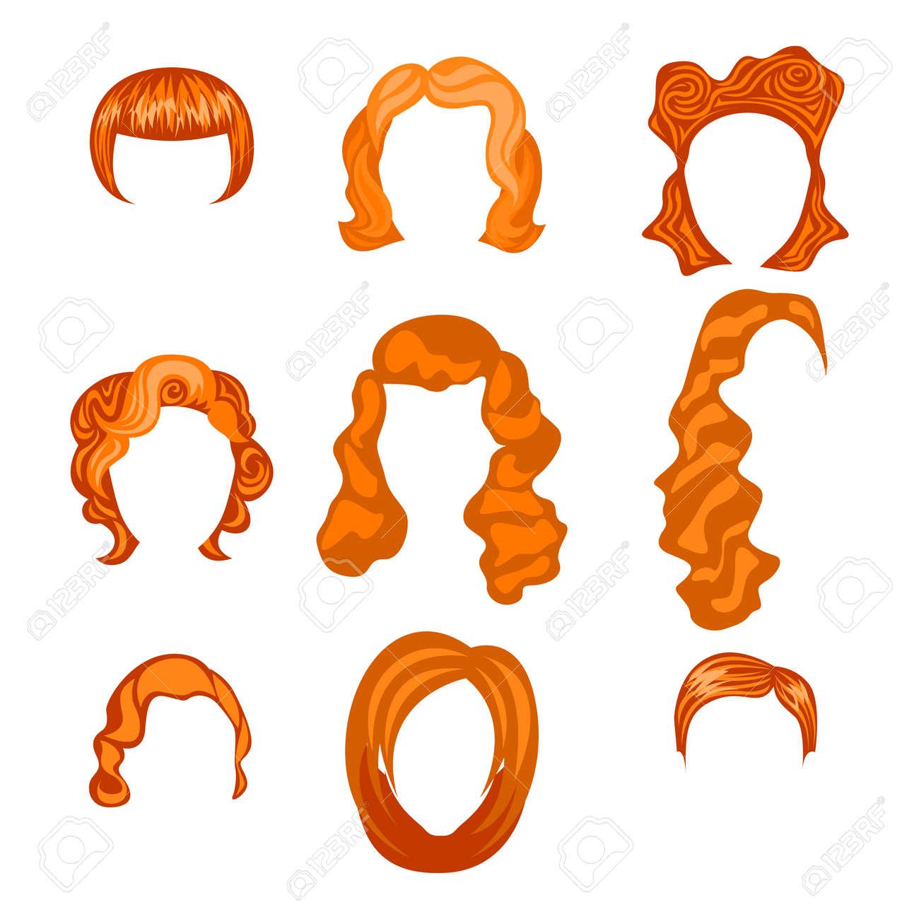 別の女の髪型セットします。