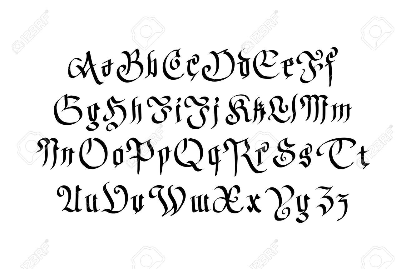 Modern style police gothique lettres gothiques avec des lments banque dimages modern style police gothique lettres gothiques avec des lments dcoratifs art thecheapjerseys Choice Image