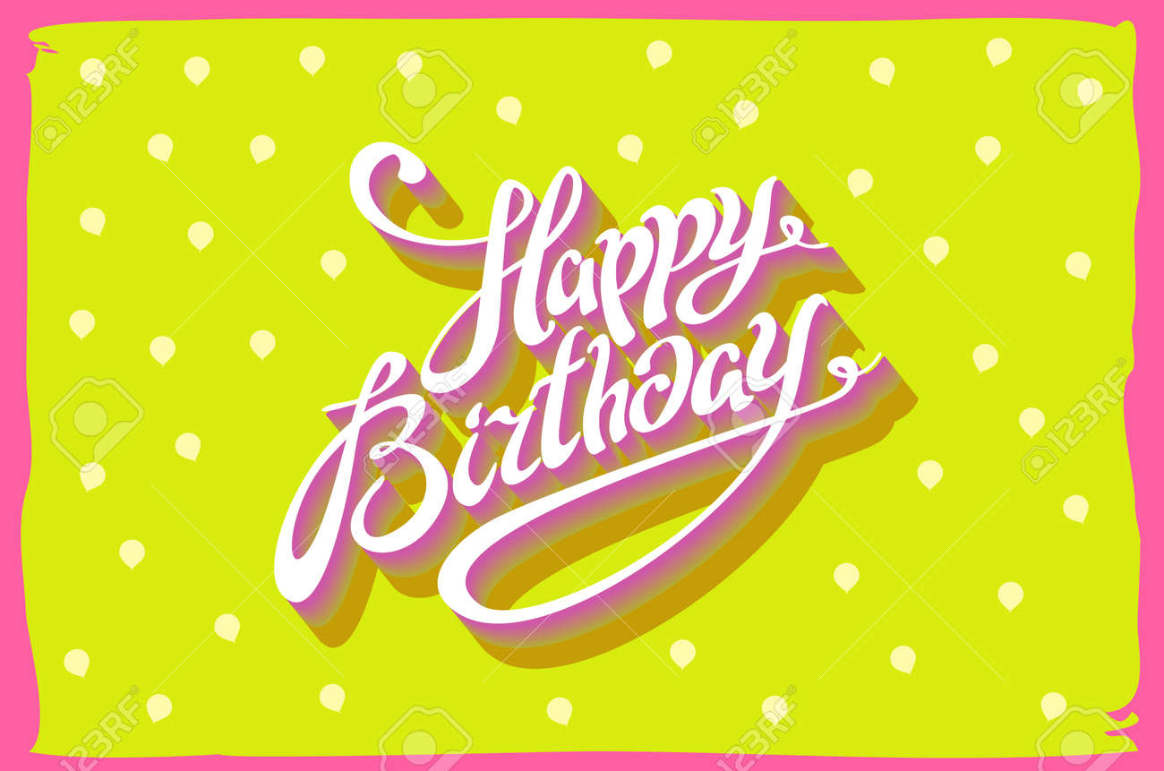 Vintage retro happy birthday card with fonts grunge frame and vector vintage retro happy birthday card with fonts grunge frame and chevrons seamless background art vector bookmarktalkfo Choice Image