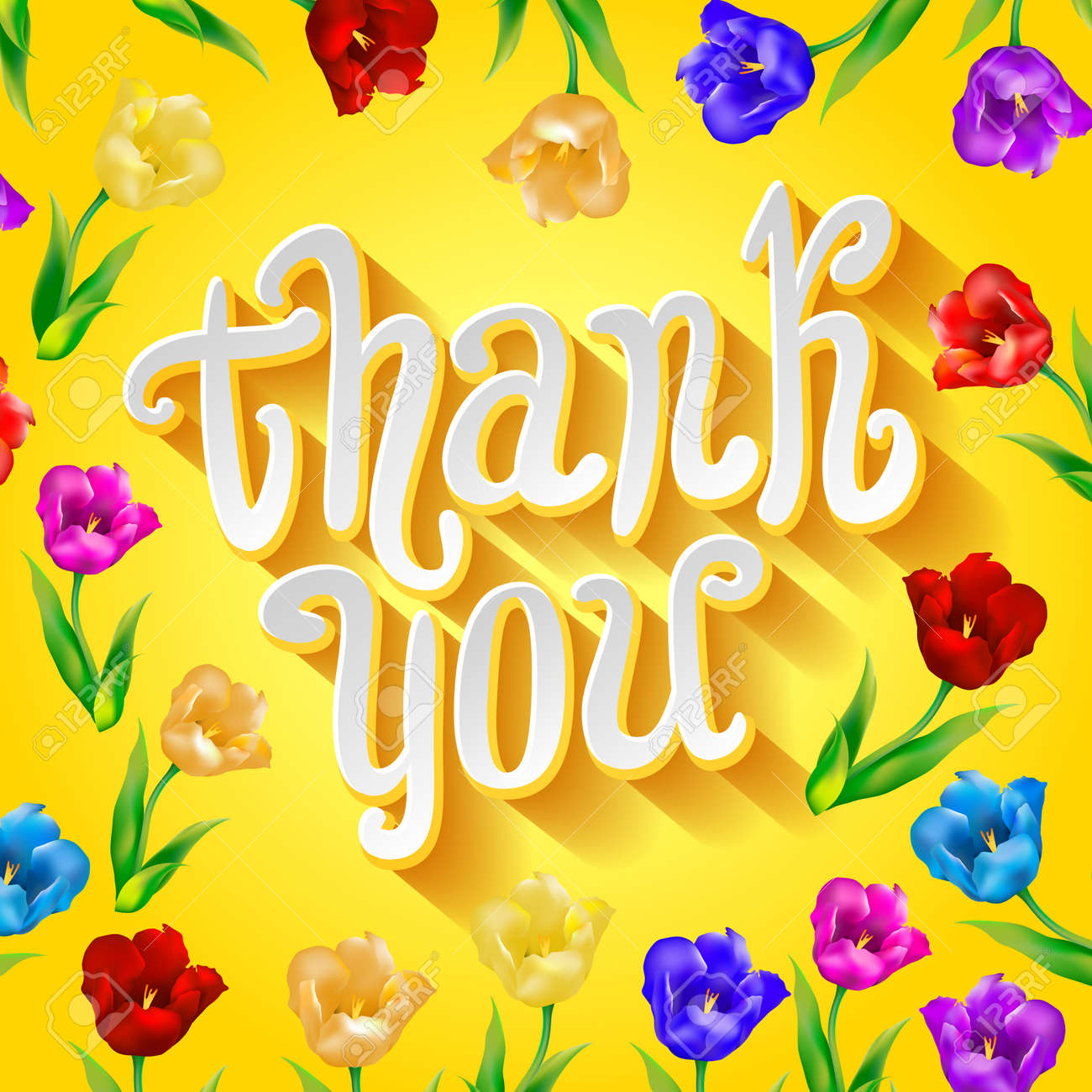 Greeting card template in yellow and white great for thank you greeting card template in yellow and white great for thank you or thanksgiving cards kristyandbryce Images