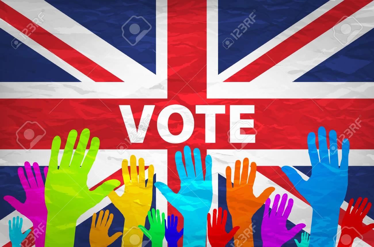 欧州共同体の旗と模様手イギリス...