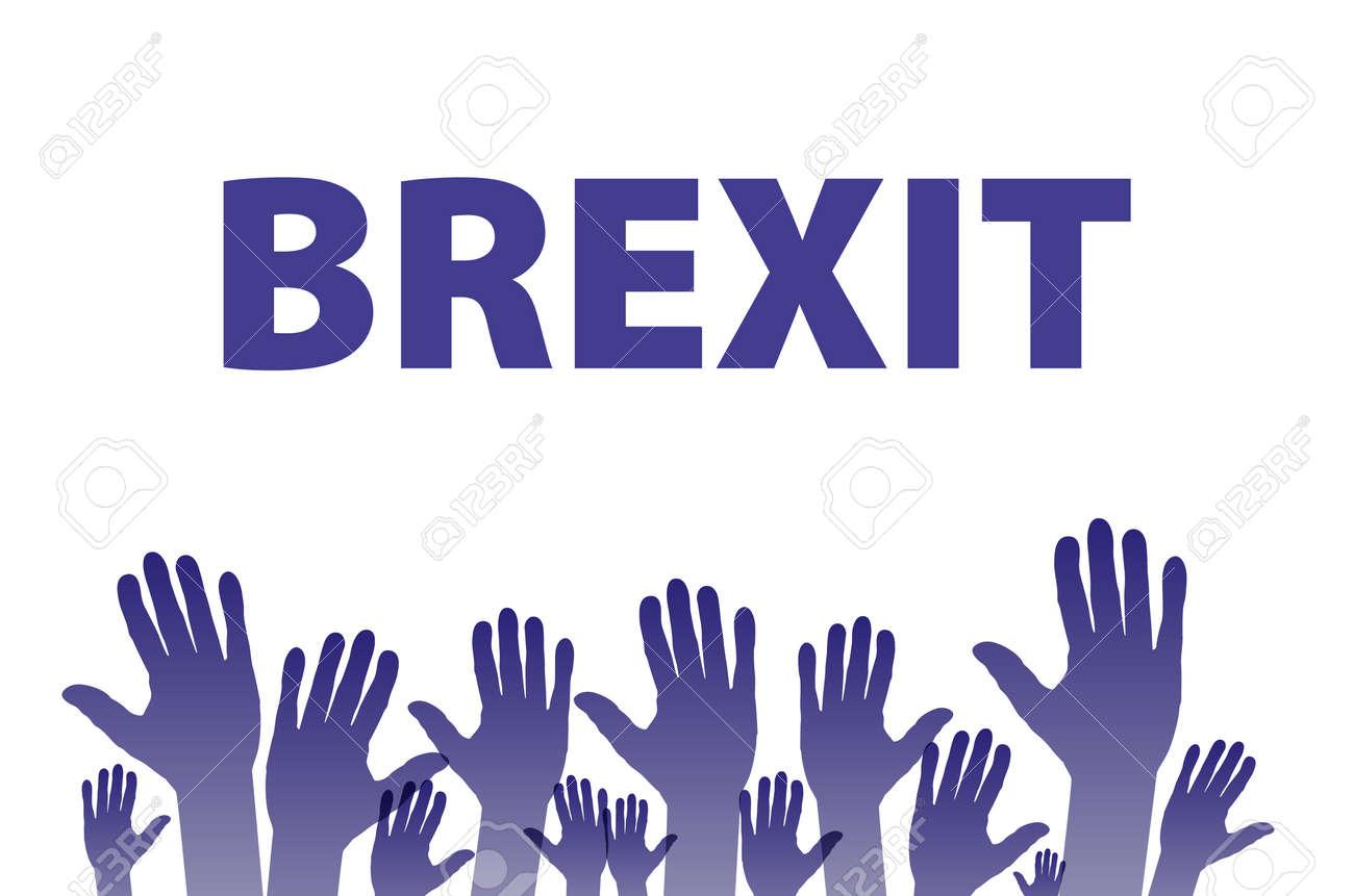 Brexit テキスト分離アート ベク...
