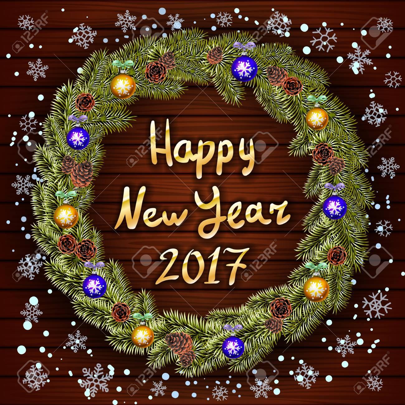 Las Mejores Felicitaciones De Navidad Y Ano Nuevo.Feliz Tarjeta De Felicitacion De Ano Nuevo Con Los Mejores Deseos Felicitaciones Vectorial Santa Bolsa De Regalo Y El Sombrero Guantes Media De La
