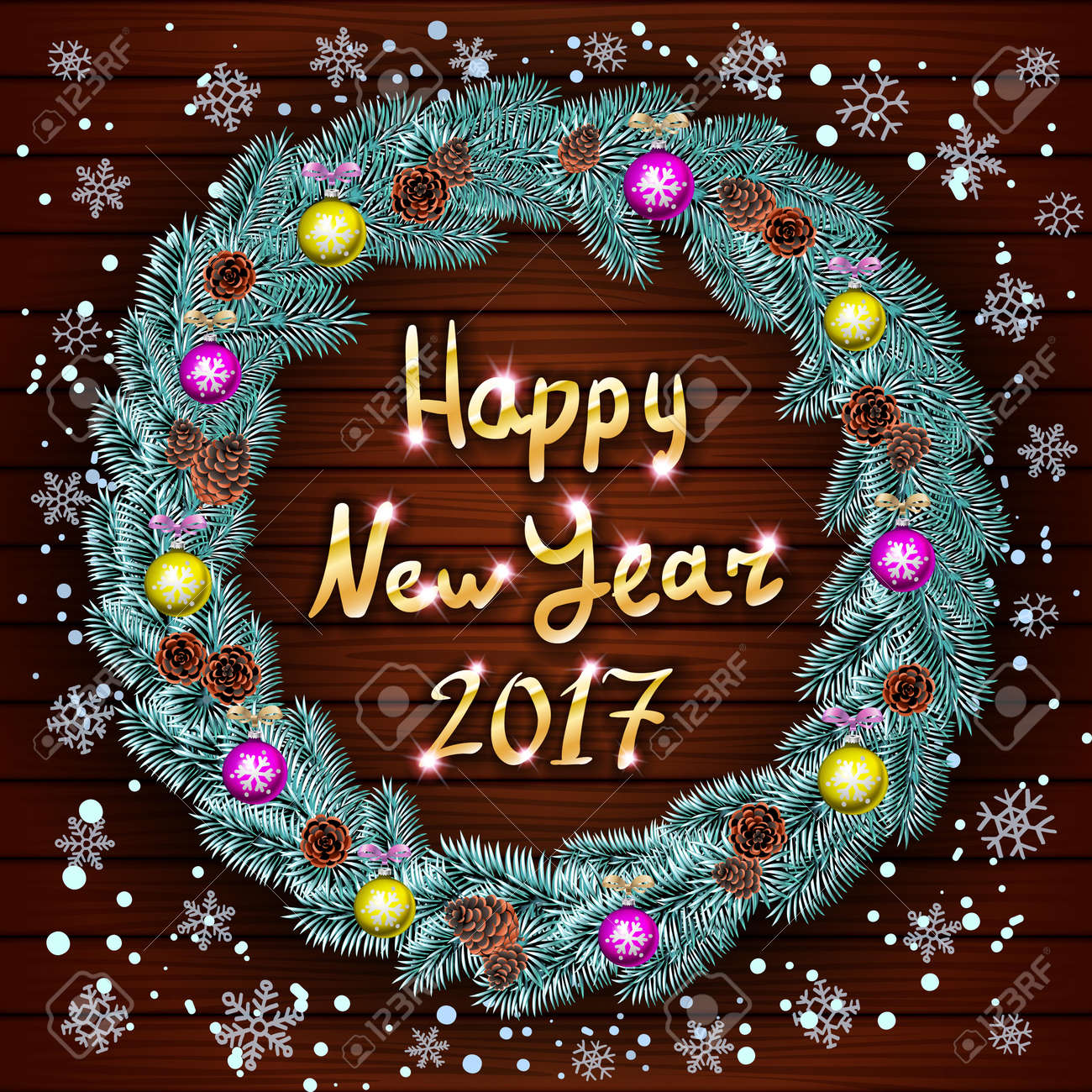Guten Rutsch Ins Neue Jahr-Grußkarte Mit Den Besten Wünschen ...