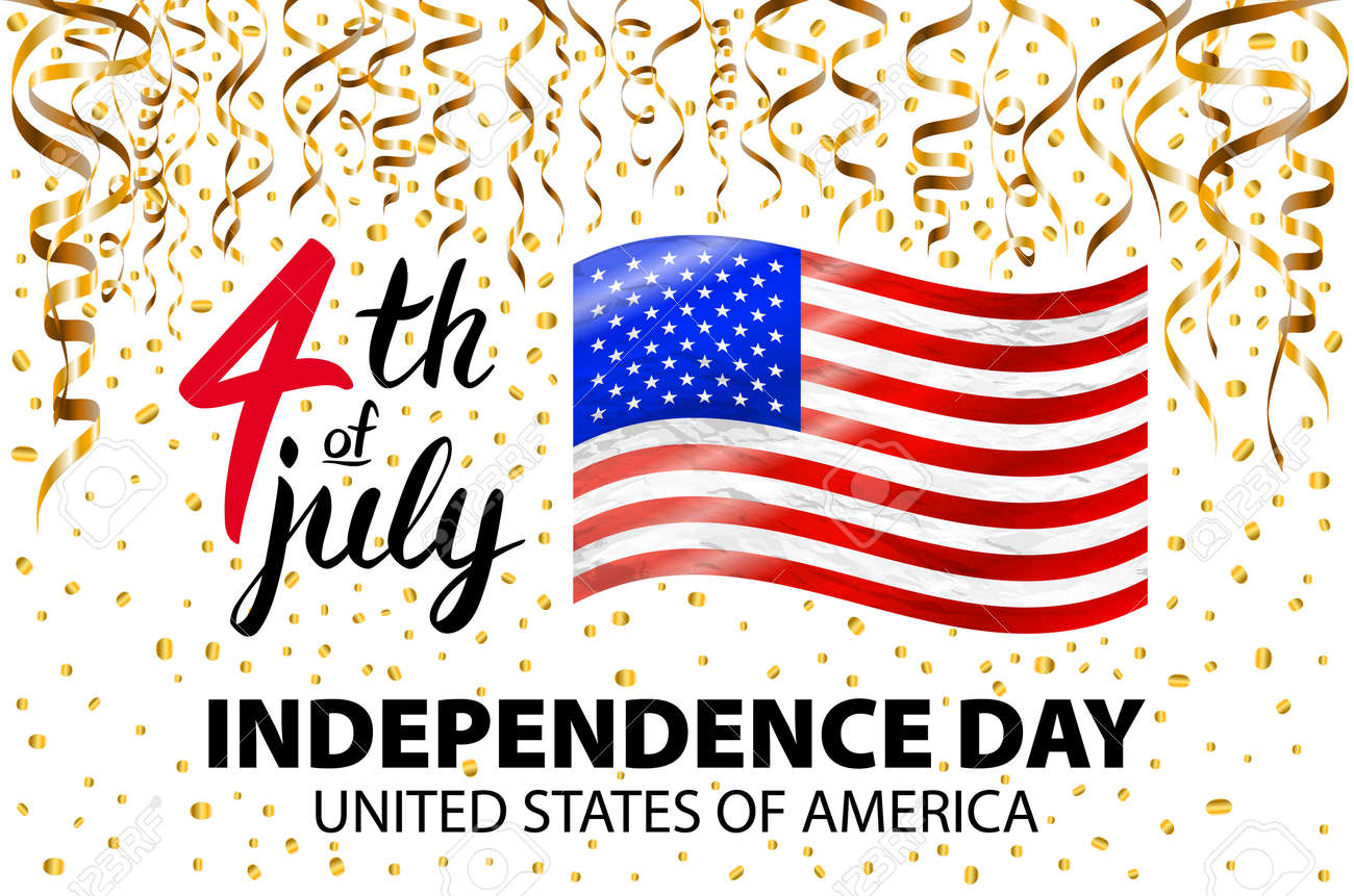 Gold glitter independence day usa greeting card flyer july gold glitter independence day usa greeting card flyer july fourth poster patriotic banner m4hsunfo
