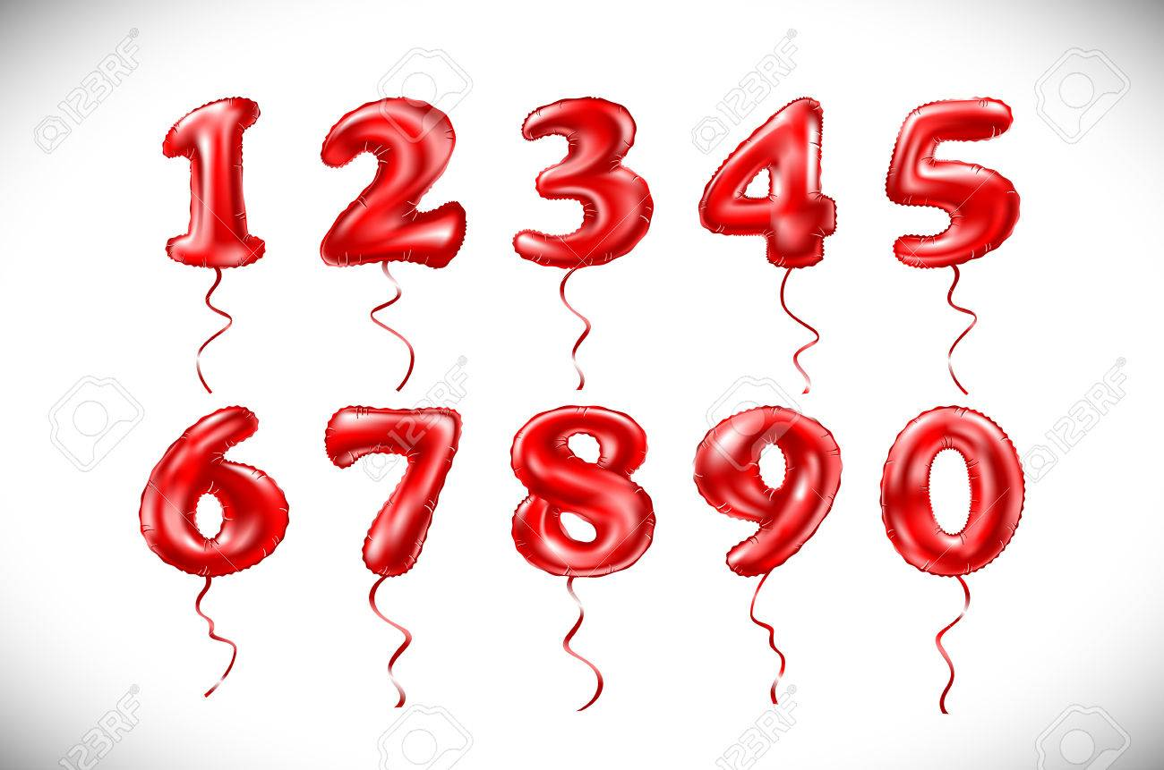 Red Number 1 2 3 4 5 6 7