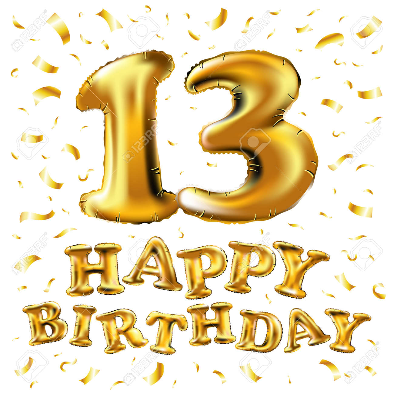 happy birthday 13th birthday design royalty free cliparts vectors