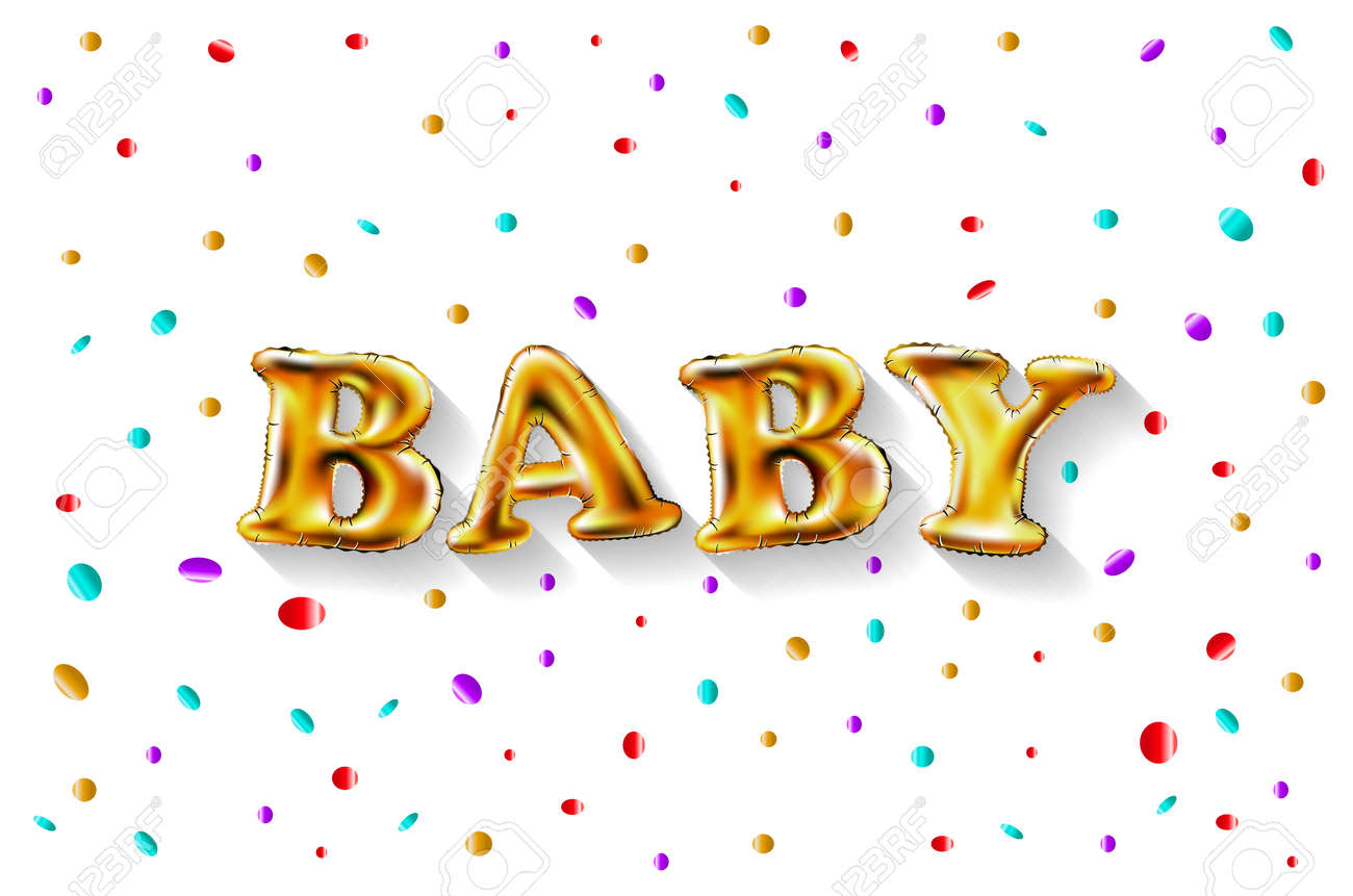 Gold Letter Baby Balloons Birthday Characters For Celebration Party Date