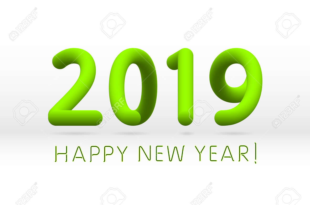 green 2019 symbol happy new year isolated on white background royalty free cliparts vectors and stock illustration image 112717561 green 2019 symbol happy new year isolated on white background