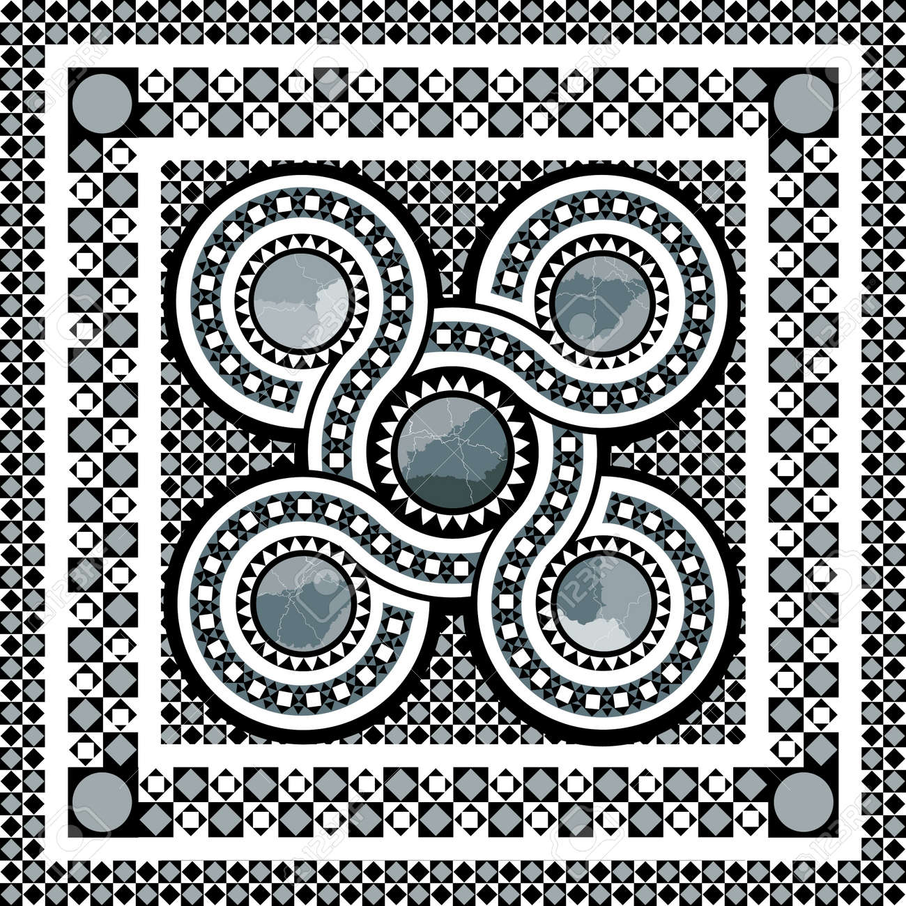 roman cosmati inspired geometric design Stock Photo - 21494502