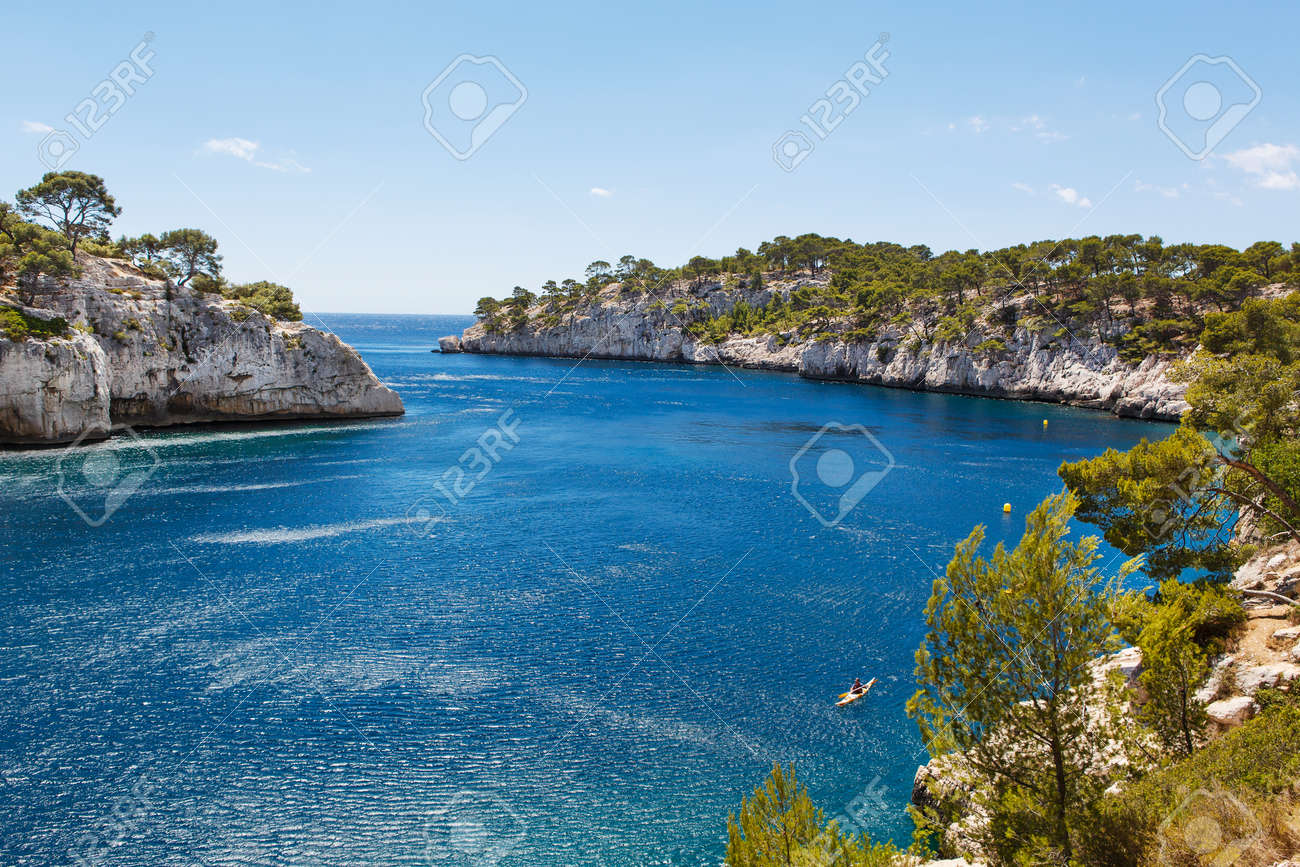 Calanques Of Port Pin In Cassis Provence France Stock Photo