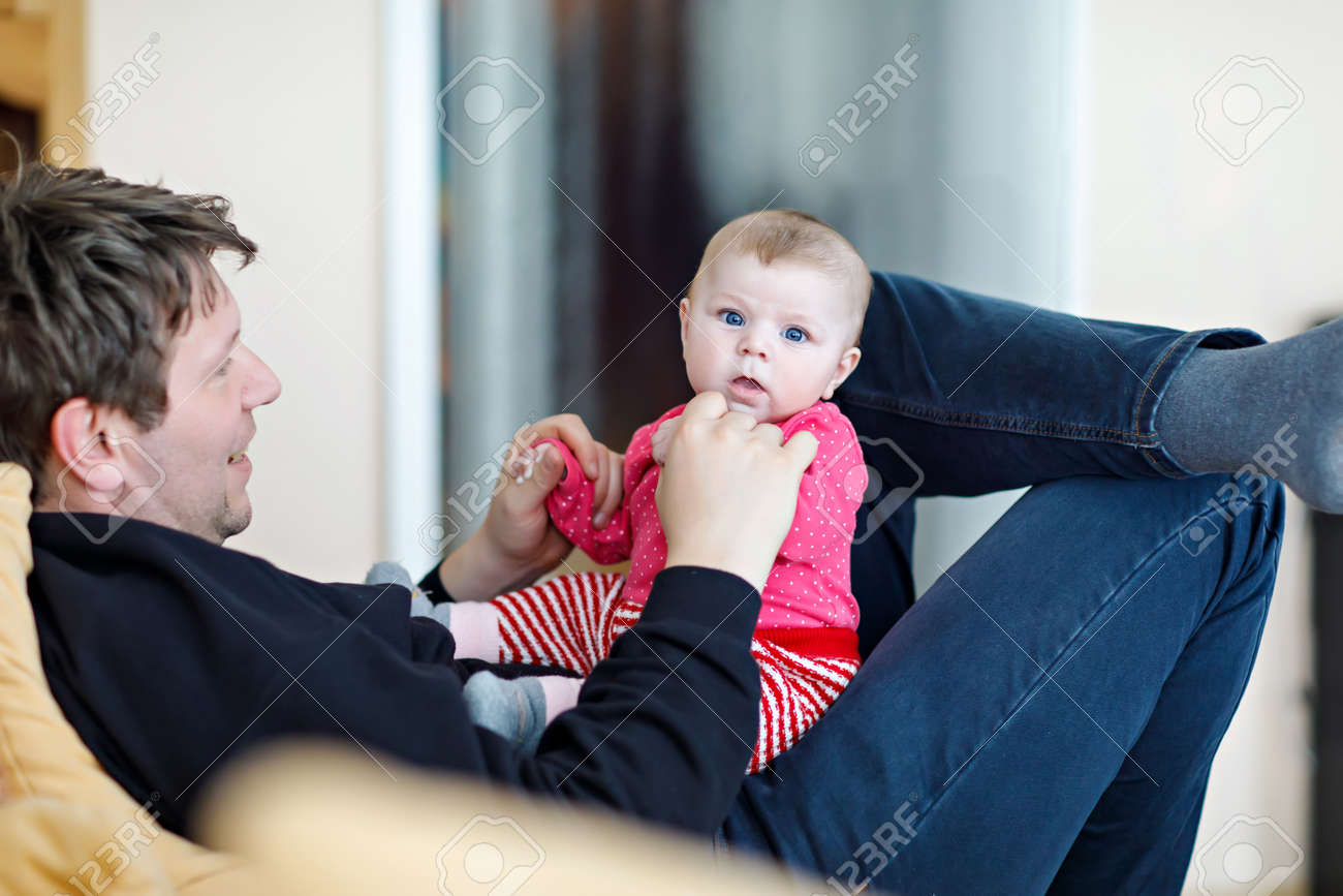 Father Takes Care Daughter