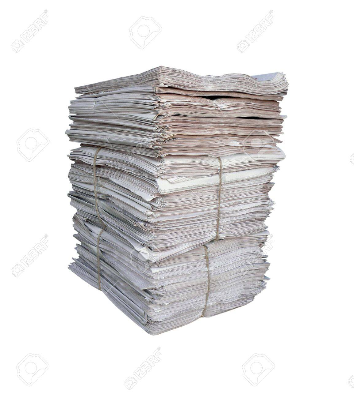 Big pile of the newspapers Stock Photo - 3761693