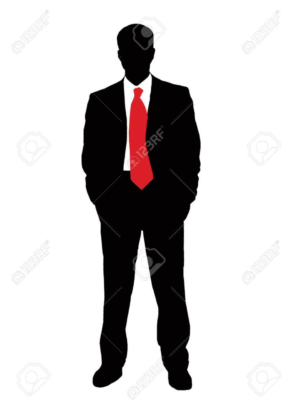 Businessman and red tie Stock Vector - 3897862
