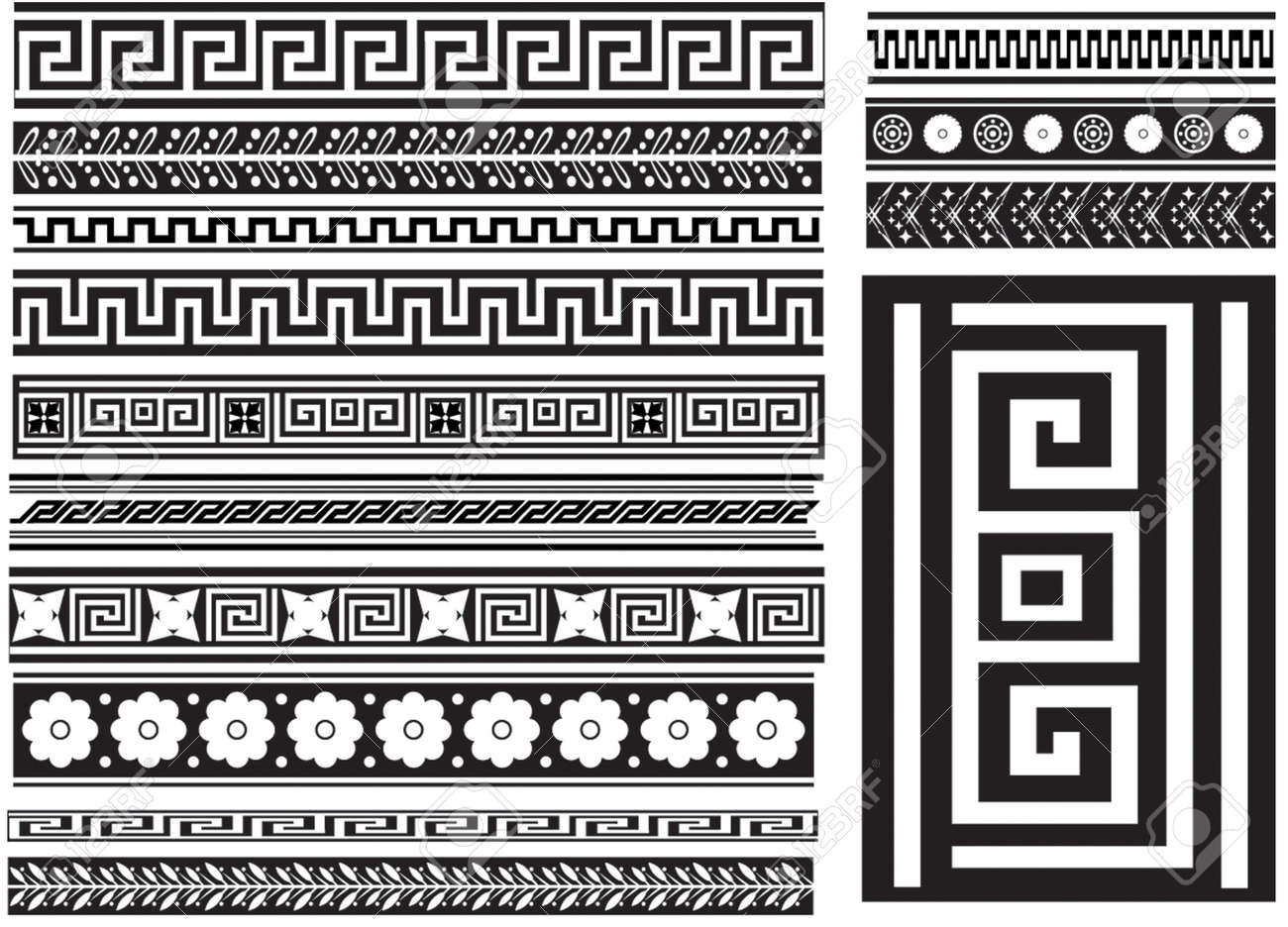Different types of seamless greek patterns royalty free cliparts different types of seamless greek patterns stock vector 4575783 reviewsmspy