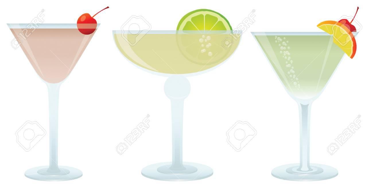Cocktails set, vector illustration for you design Stock Vector - 4811729