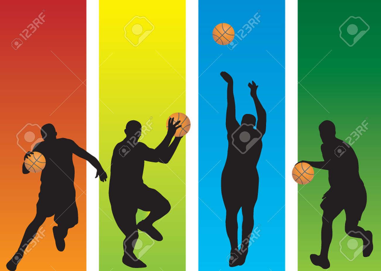 Basketball Players Stock Vector - 5553770