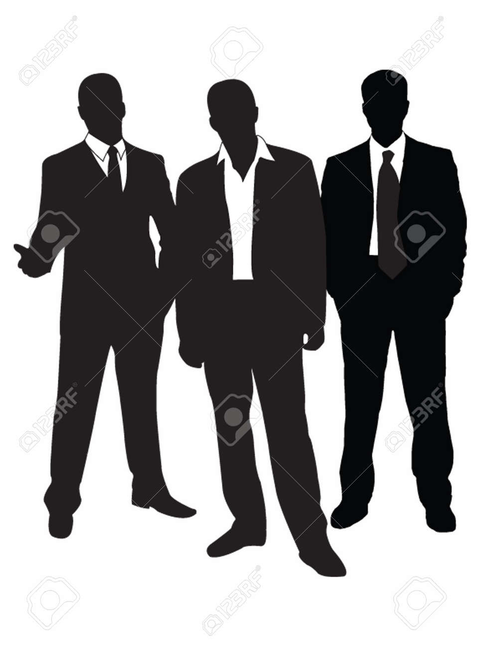 Group businessmans Stock Vector - 5553691