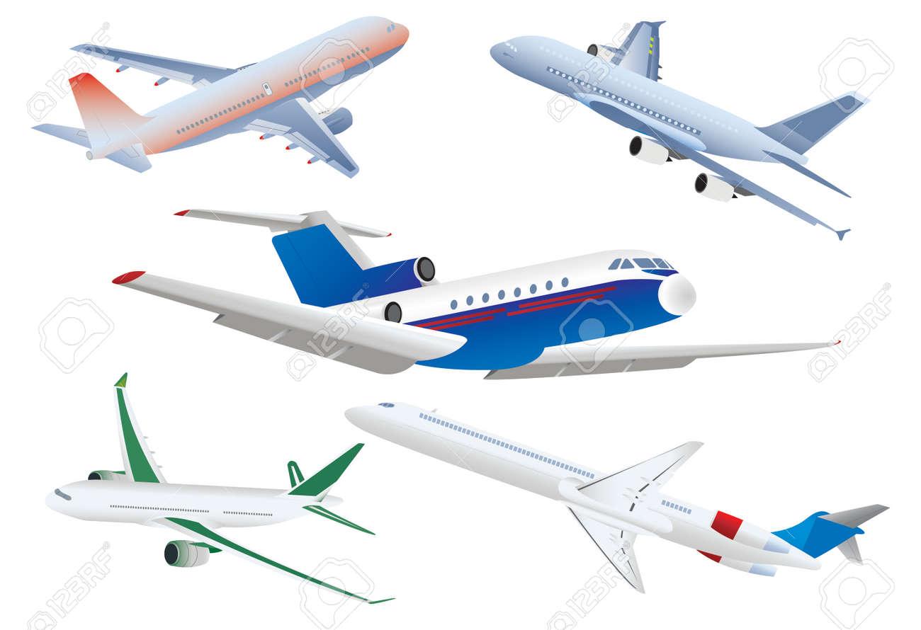 Passenger planes Stock Vector - 6113459