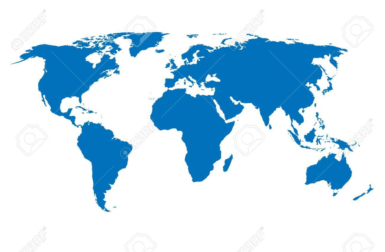Us Map Outline Stock Illustrations Cliparts And Royalty - Flat us map