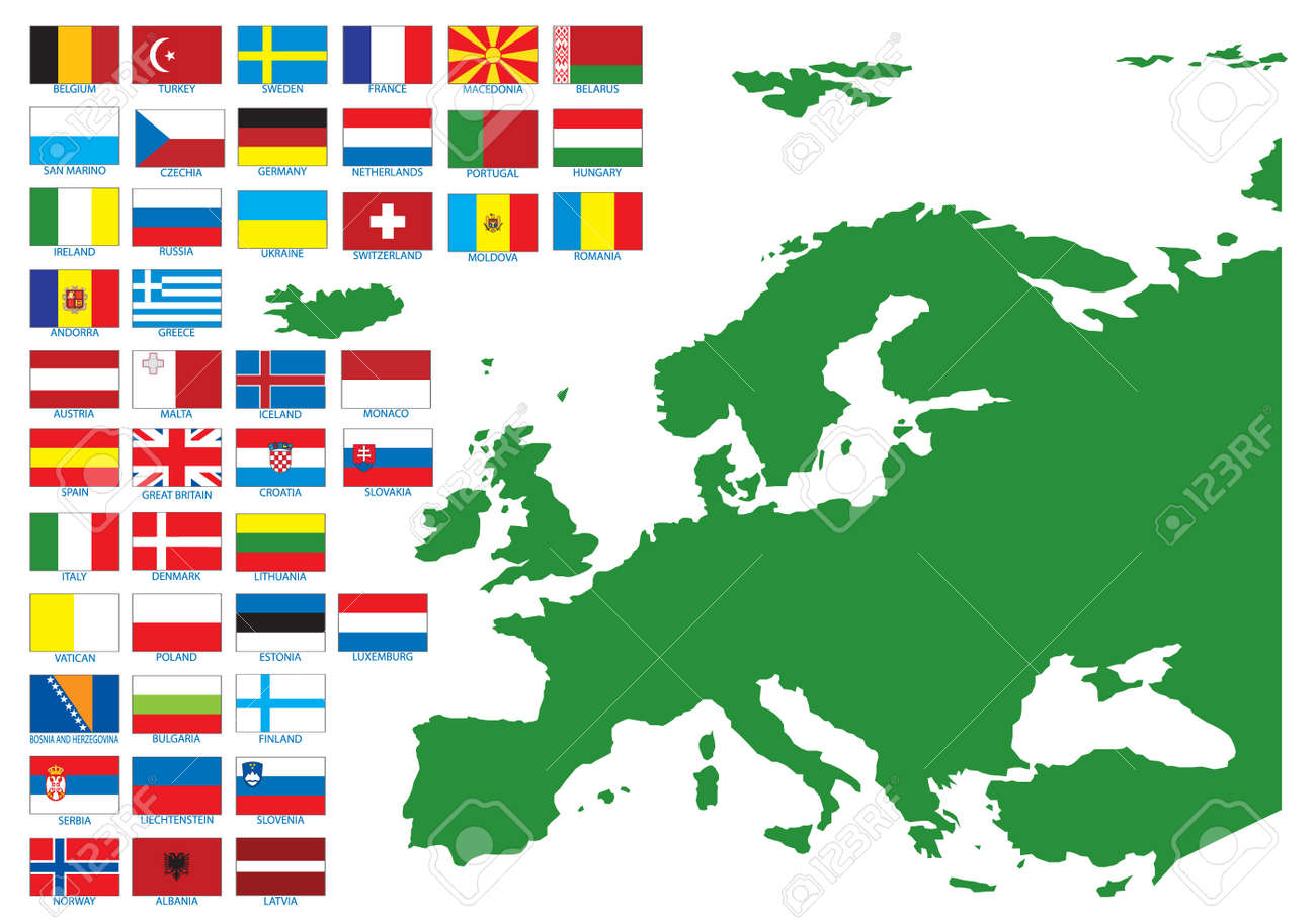 Flags of Europe. Vector illustration Stock Vector - 6690436